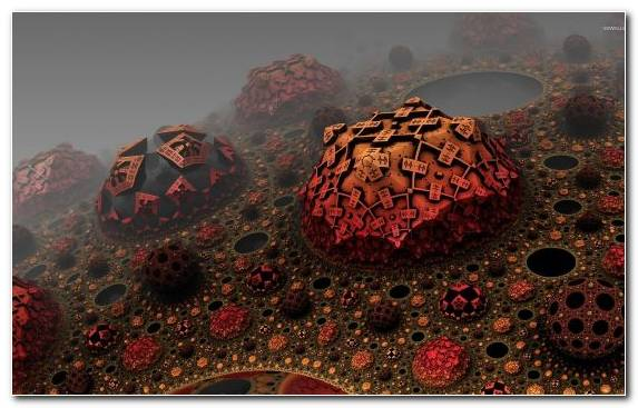 Image Fractal Art Fractal Rock Red Landscape