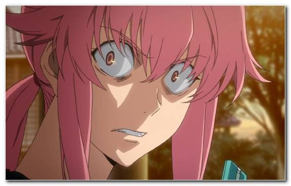 Image Future Diary Eye Face Manga Hairstyle