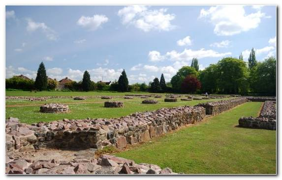Image Garden Wall Landscape Archaeological Site Grass