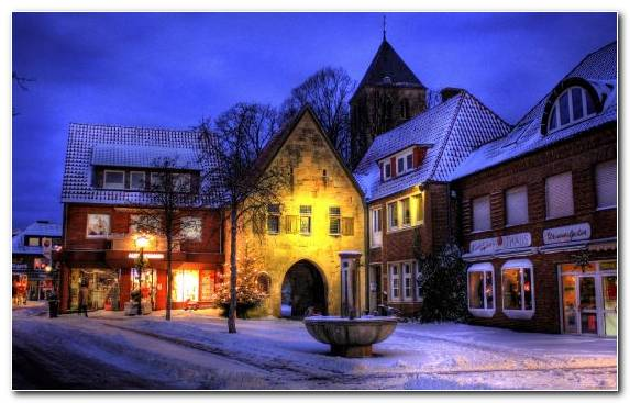 Image Germany Landmark Winter Home Evening