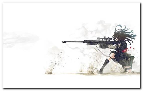Image Girl Sniper Manga Weapon Anime