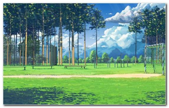 Image Goal Football Ecosystem Anime Football Pitch