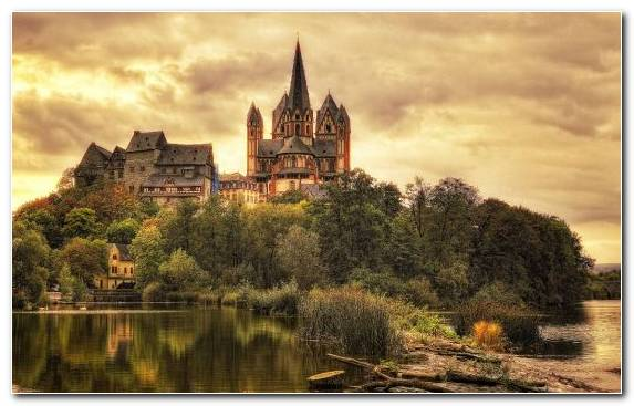 Image Gothic Architecture Reflection Cathedral Medieval Architecture Evening