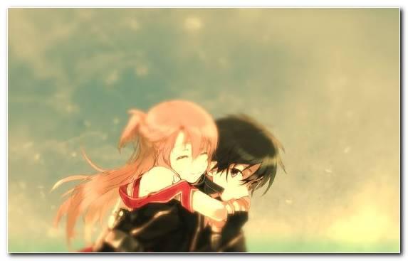 Image Grass Kirito Asuna Cloud Girl