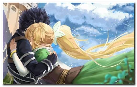 Image grasses asuna illustration anime kirito
