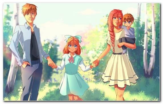 Image Grasses Girl Friendship Anime Summer