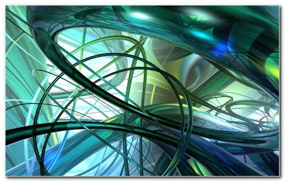 Image Green Circle Line Glass Fractal Art
