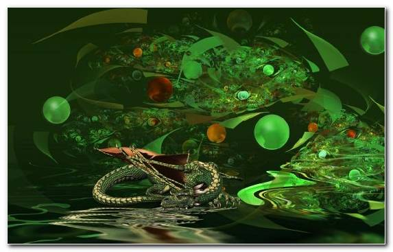 Image Green Dragon Illustration Organism Abstraction