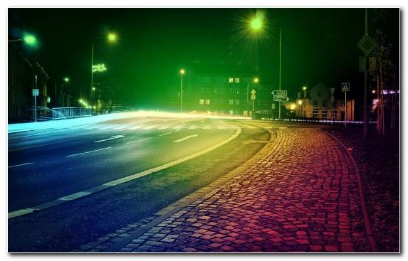 Image Green Urban Area Lighting Atmosphere City