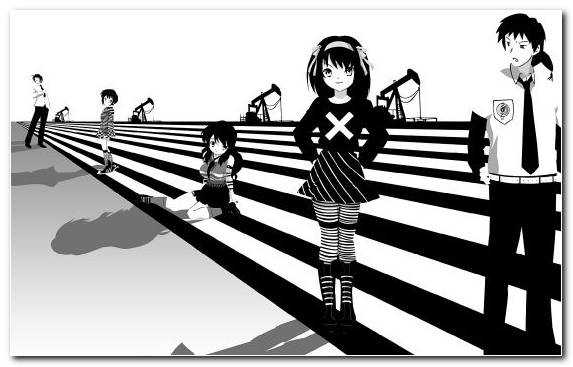 Image Haruhi Suzumiya Human Behavior Black And White Illustration Mikuru Asahina