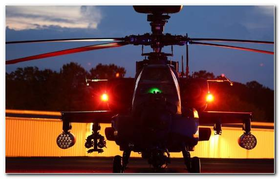 Image Helicopter Rotor Evening Boeing Ah 64 Apache Aviation Sky