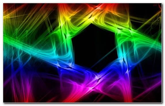 Image Hexagon Light Space Fractal Art Neon