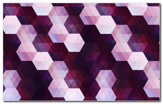 Image Hexagon Ornament Pattern Purple Square
