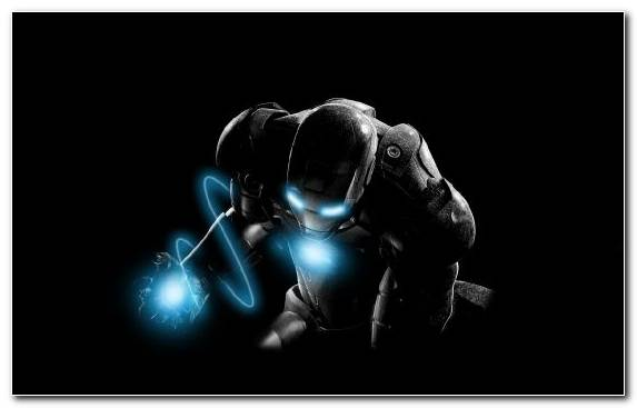 Image Highlight Light Backlighting Iron Man Black