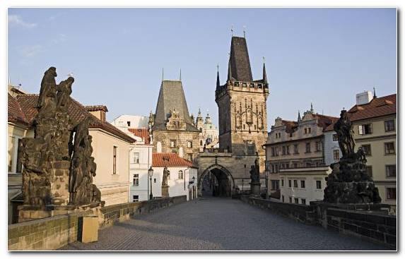 Image History Prague City Sky Charles Bridge