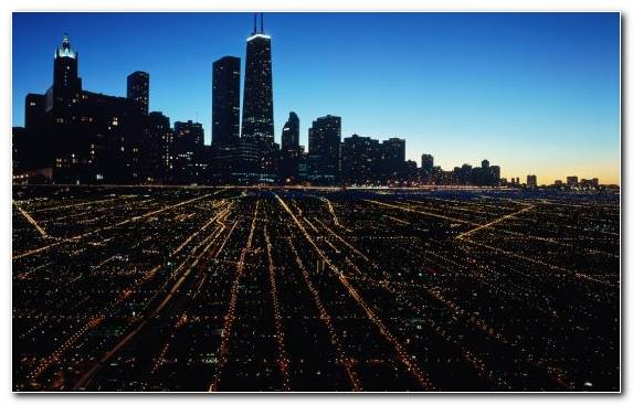 Image Horizon Cities Skylines City Night Cityscape