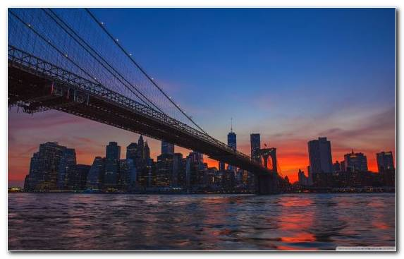 Image Horizon Bridge Skyline Sky Manhattan Bridge