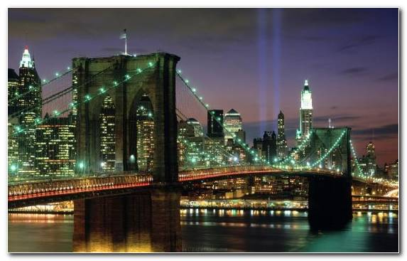 Image Horizon City Bridge Landmark Reflection