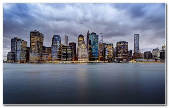 Image Horizon City Manhattan Cityscape Metropolis