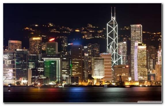 Image horizon city night skyline cityscape