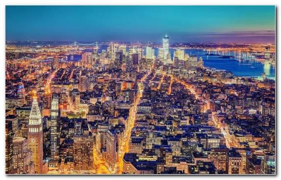 Image Horizon Cityscape Metropolis Manhattan Landmark