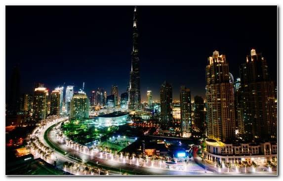 Image Horizon Dubai Skyscraper Cityscape Burj Khalifa