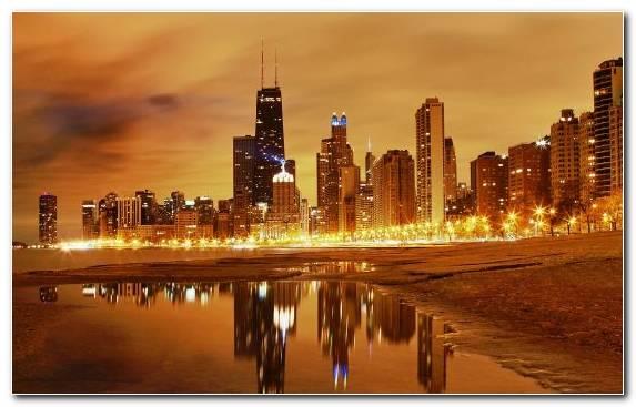 Image Horizon Metropolis Cityscape Capital City Reflection
