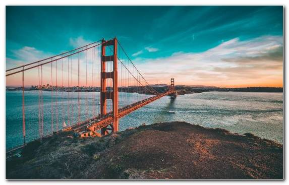 Image Horizon Morning Bridge Golden Gate Bridge Sky