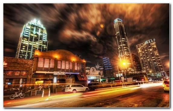 Image Horizon Night Landmark Metropolis City