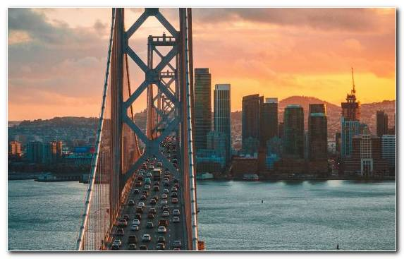 Image Horizon Sky Metropolis Bridge Cityscape