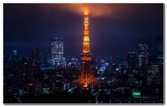 Image Horizon Skyscraper Tokyo Tower Landmark City