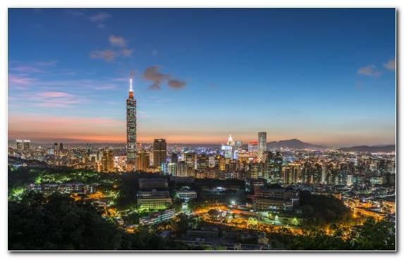 Image Horizon Taipei 101 Capital City Metropolis Cityscape