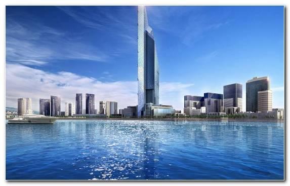 Image Hotel Water Sky Skyline Burj Khalifa