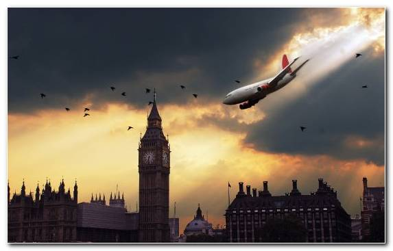Image Houses Of Parliament Daytime Buckingham Palace Airplane Farmhouse