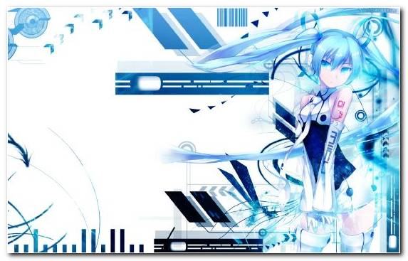 Image Illustration Anime Design Blue Technology