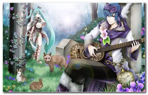Image Illustration Kaito Purple Vocaloid Mythology
