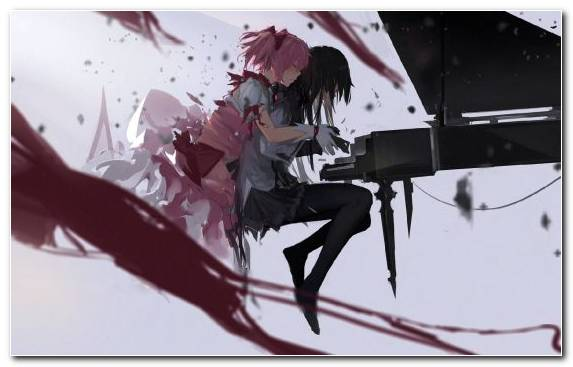 Image Illustration Kyubey Art Madoka Kaname Anime