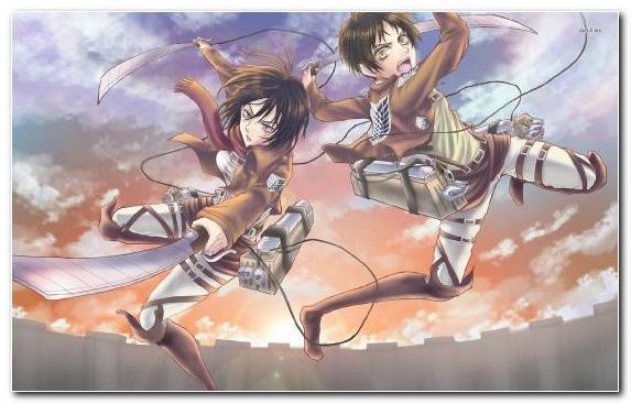Image Illustration Woman Warrior Fictional Character Mikasa Ackerman Supernatural Creature
