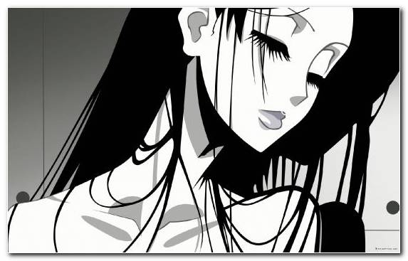 Image Illustration Youtube Girl Manga Black And White