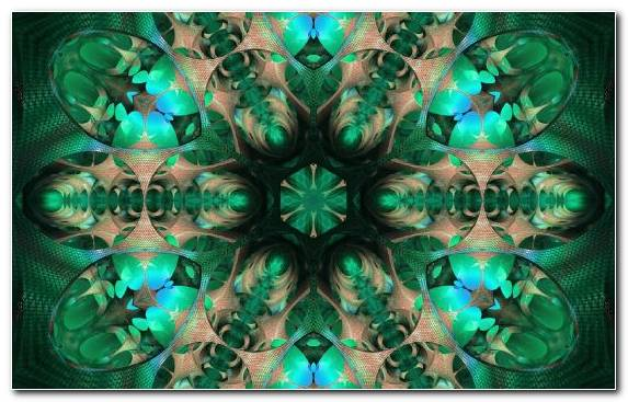 Image Kaleidoscope Symmetry Pattern Green Fractal Art