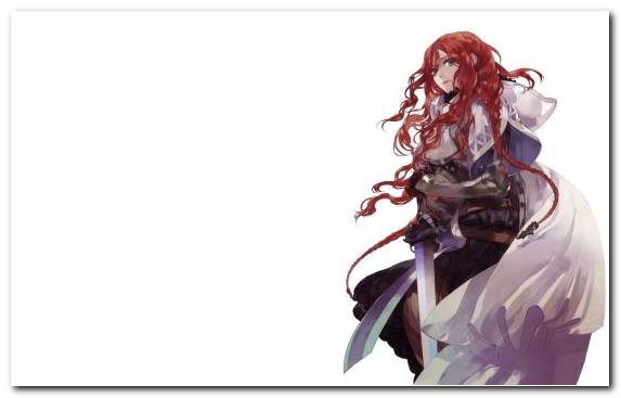 Image Kenshin Himura Illustration Computer Long Hair Sword