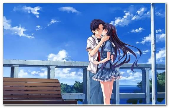 Image Kiss Anime Snapshot Summer Romance