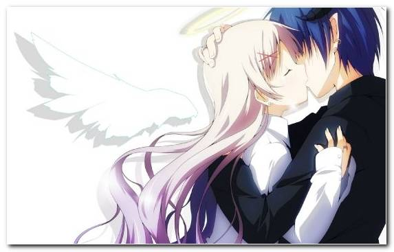 Image Kiss Violet Cartoon Angel Fictional Character