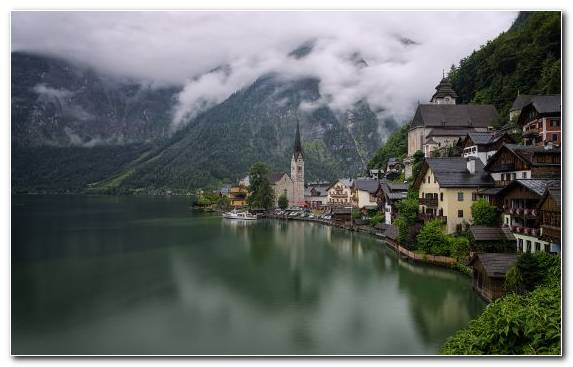 Image Lake Backpacker Hostel Mountain Range Mountain Hallstatt
