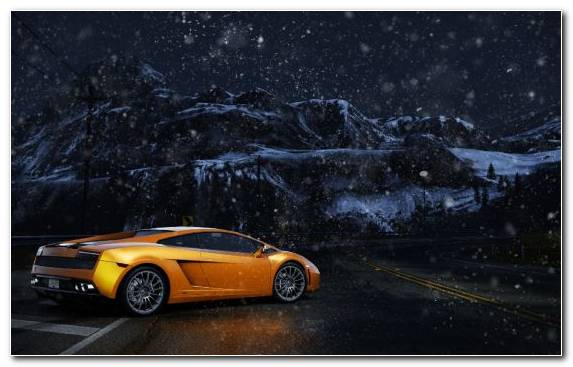 Image Lamborghini Car Sports Car Sportscar Snow
