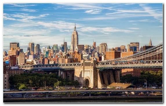 Image Landmark Brooklyn Bridge Cityscape Capital City Skyline