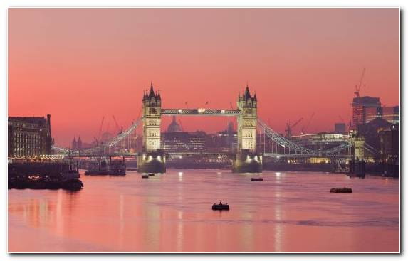Image Landmark Capital City Reflection London Bridge Tower Bridge