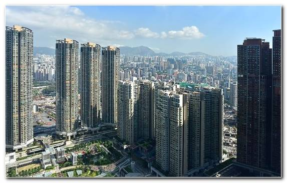 Image Landmark City Horizon Urban Area Hong Kong