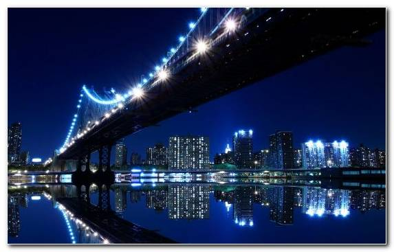 Image Landmark Cityscape Skyline Reflection Bridge