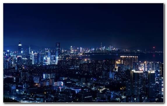 Image landmark horizon metropolis skyline night